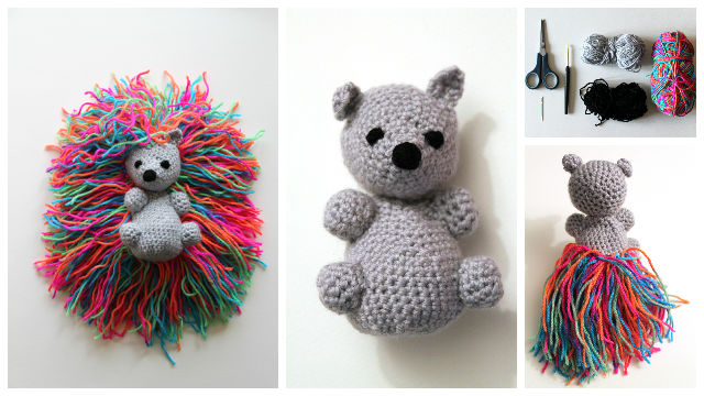 Crochet Amigurumi Hedgehog Punk Free Pattern