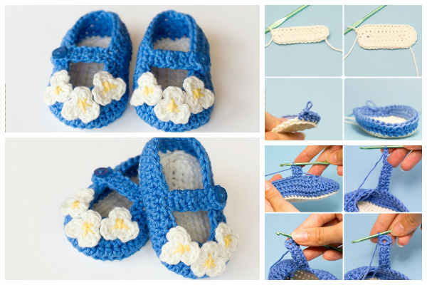 Free Knitting Patterns Baby Booties Mary Jane : Free Knit Mary Jane Baby Booties Pattern