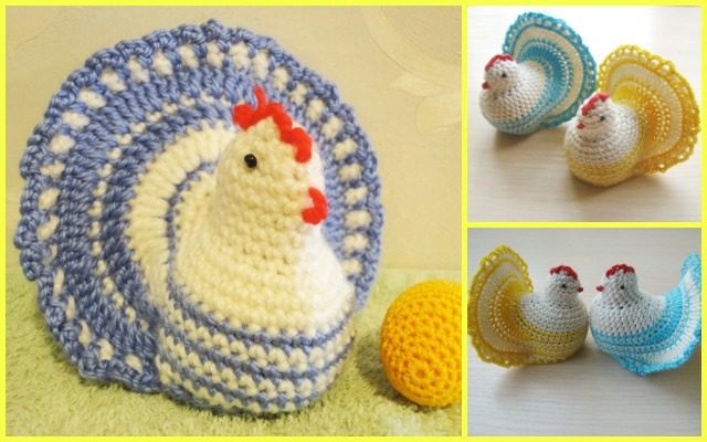 Crochet Easter Chicken Free Pattern With Fan Tail