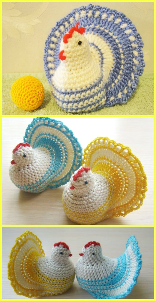 Crochet Easter Chicken Free Pattern [Video Tutorial]