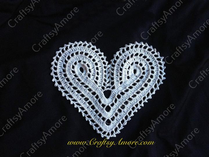 Crochet Lace Heart Motif Free Pattern for Valentine Dress 21 ...