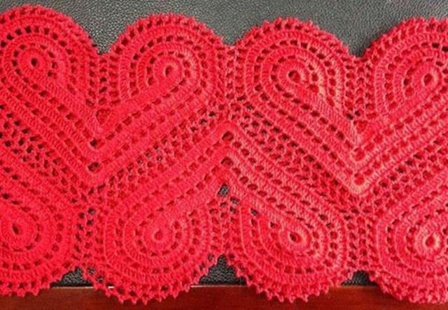 Crochet Lace Heart Motif Free Pattern For Valentine Dress Join