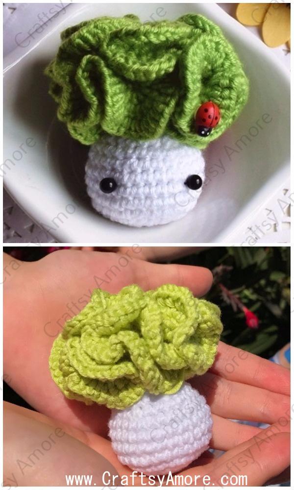Easy Crochet Cabbage Doll Amigurumi Free Pattern