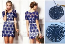 Crochet Wheel Motif Lace Dress Free Pattern & Tutorial