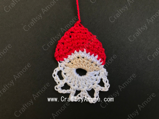 Simple Crochet Santa Motif Free Pattern & Tutorial