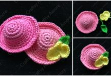 Crochet Mini Flower Hat Free Pattern