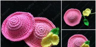 Crochet Mini Flower Hat Free Pattern