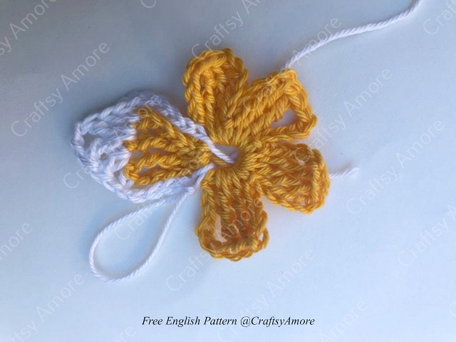 Crochet Plumeria Flower Motif Free Pattern
