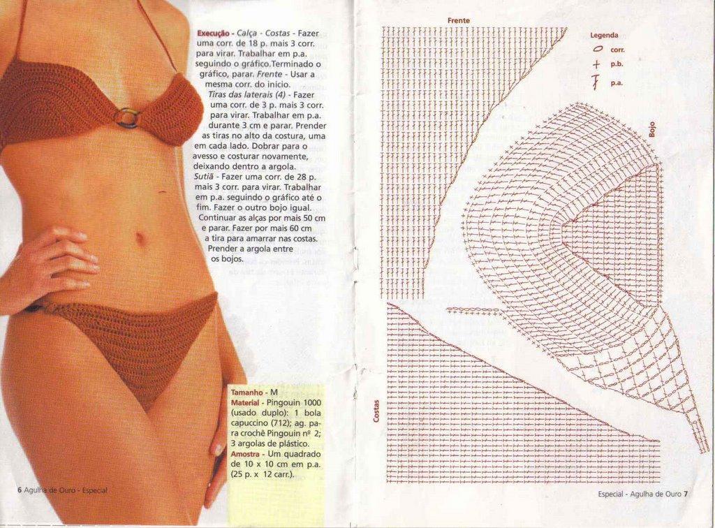 Crochet Bikini Set Free Patterns Chartserns Charts 3 Craftsy Amore