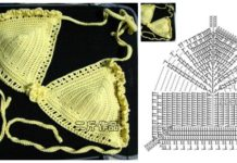 Crochet Bikini Set Free Patterns - Charts