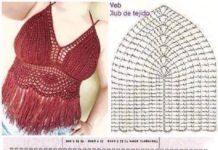 Crochet Fringed Bikini Top Free Pattern
