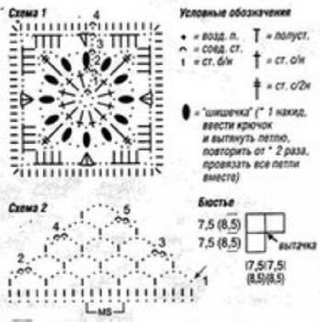 Crochet Vintage Granny Square Bikini Free Chart