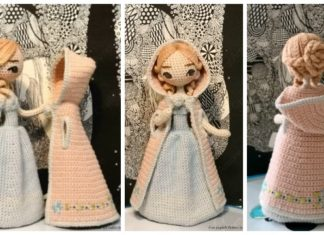 Amigurumi Princess Doll in Cape Crochet Free Pattern