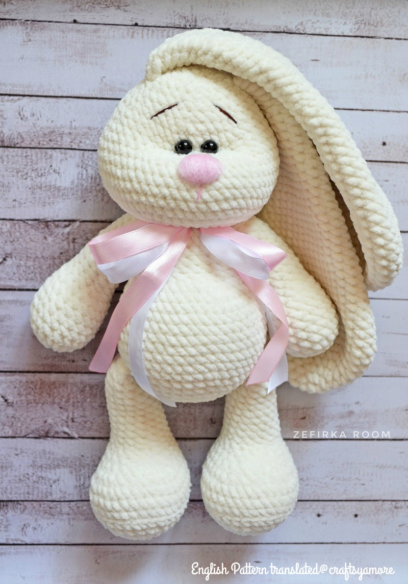 PATTERN: BUNNY RABBIT crochet amigurumi pattern #1902 | Crochet ... | 1144x800