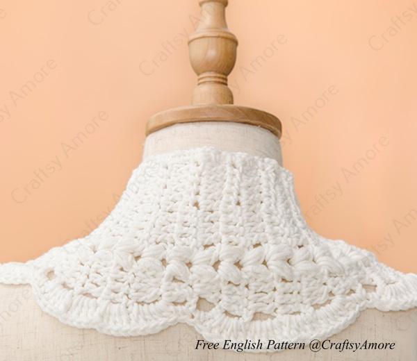 Puffy Cluster Swan Scarf Free Crochet Pattern