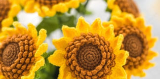 Sunflower Bouquet Free Crochet Pattern