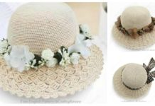 Sweet Candy Brim Sun Hat Free Crochet Pattern