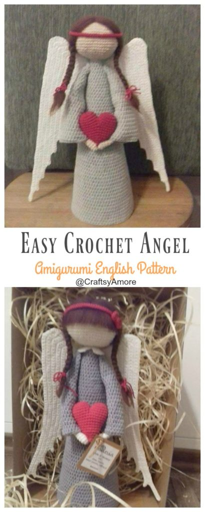 Angelo Amigurumi -Parte 1 👼🏻 Tutorial Natale - Angel Crochet ... | 1024x410