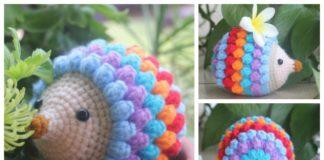 Amigurumi Rainbow Hedgehog Free Crochet Pattern