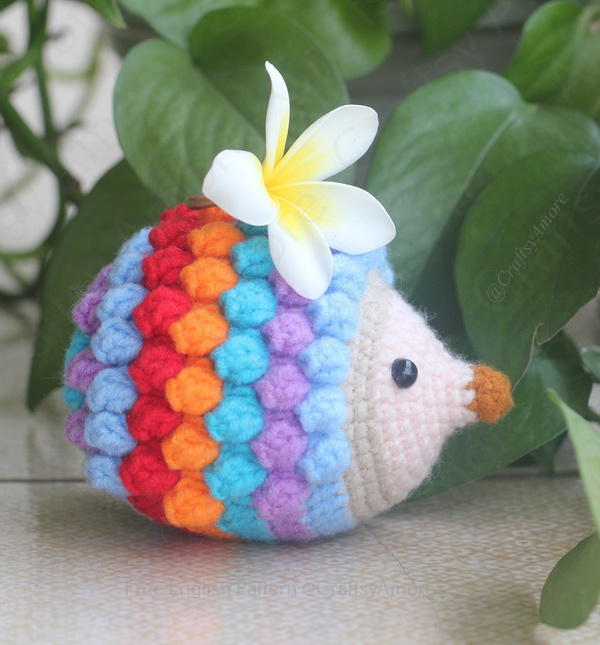 Amigurumi Rainbow Hedgehog Free Crochet Pattern