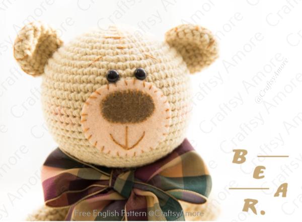 Amigurumi Patches Teddy Bear Free Crochet Pattern