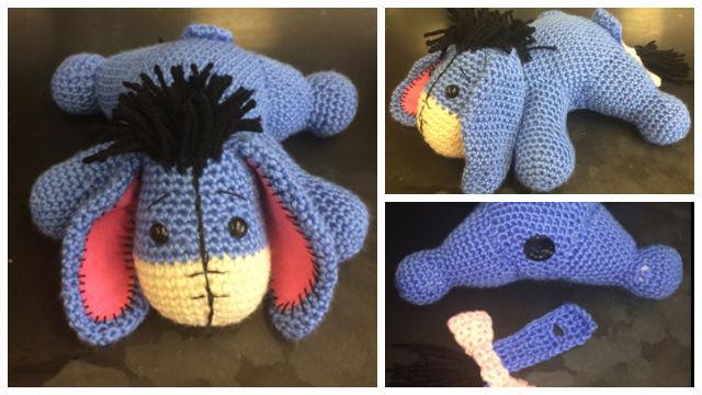 Amigurumi Crochet Eeyore Toy Free Pattern
