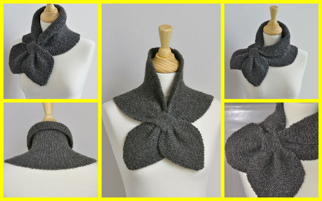 Knit Garter Stitch Miss Marple Scarf Free Pattern