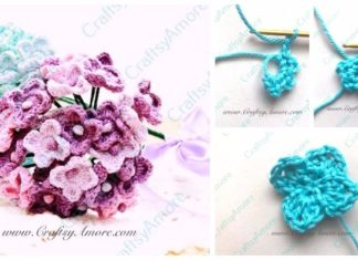 2 Easy Crochet Hydrangea Flower Free Pattern & Step by Step Tutorial