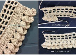 Crochet Fold Petal Edging Free Pattern & Tutorial
