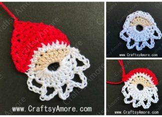 Simple Crochet Santa Motif Free Pattern & Tutorial