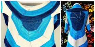 Biscotte's Pinwheel Circle Jacket Free Knitting Pattern