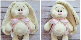 Crochet Big Flappy Ear Bunny Amigurumi Free Pattern
