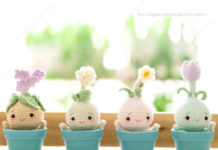 Crochet Spring Flower Bulb Doll Amigurumi Free Patterns